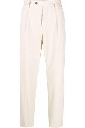 HUGO BOSS Slim-cut tailored trousers - Neutrals