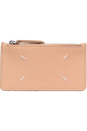 Maison Margiela Women Wallets - Leather zip-up purse - Neutrals
