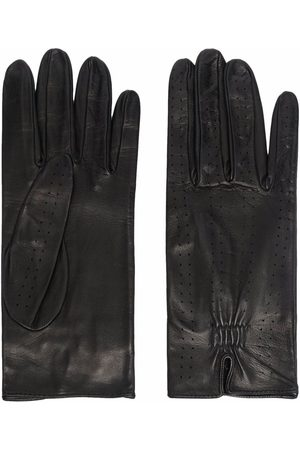 Manokhi Women Gloves - Perforated leather gloves