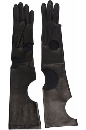 Manokhi Cut out-detail leather gloves