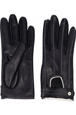 Manokhi Women Gloves - Stitch-detail leather gloves