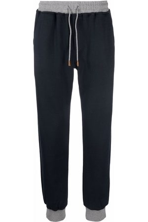 ELEVENTY Two-tone jogger trousers