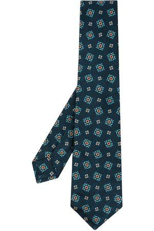 Kiton Men Bow Ties - Geometric-pattern silk tie