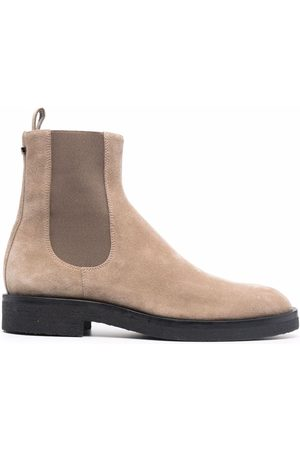 NEW STANDARD Men Ankle Boots - Suede chelsea ankle boots - Neutrals