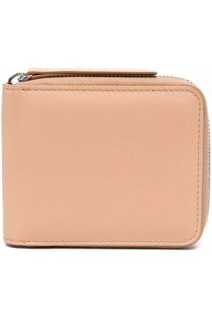 Maison Margiela Four-stitch logo zip-fastening purse - Neutrals