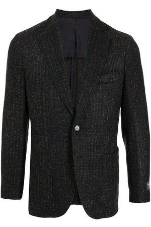 MAN ON THE BOON. Men Blazers - Check-pattern single-breasted blazer