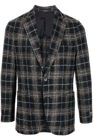 MAN ON THE BOON. Check-pattern single-breasted blazer
