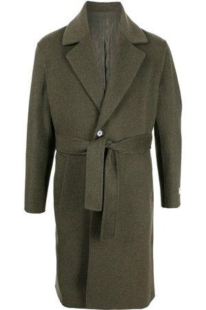 MAN ON THE BOON. Men Blazers - Notched-lapels tie-waist coat