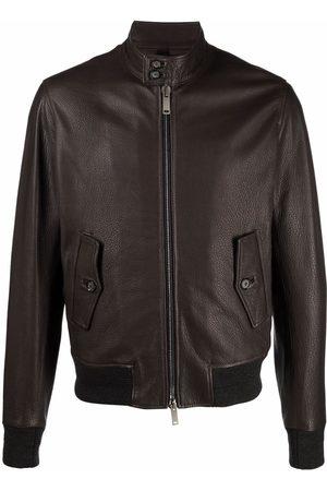 TAGLIATORE Zip-up leather jacket