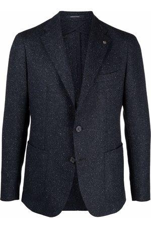 TAGLIATORE Gingham-print single-breasted blazer