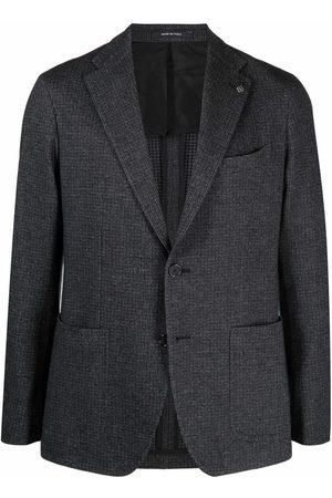 TAGLIATORE Notched-lapels single-breasted blazer - Grey