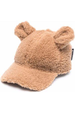 Palm Angels Girls Caps - Teddy bear faux-shearling cap
