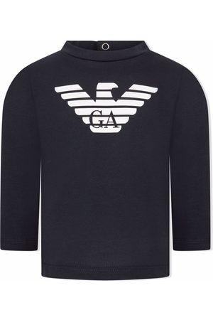 Emporio Armani Long Sleeve - Logo-print long-sleeve T-shirt
