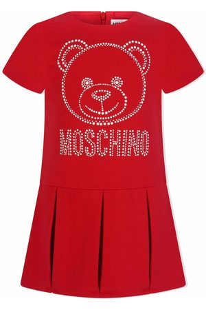 Moschino Baby Casual Dresses - Logo-embellished pleated dress