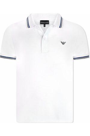 Emporio Armani Logo-print cotton polo shirt