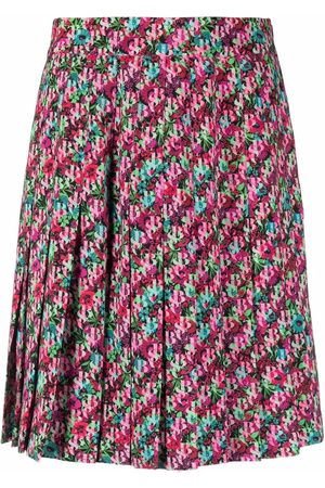 See by Chloé Logo-print pleated skirt