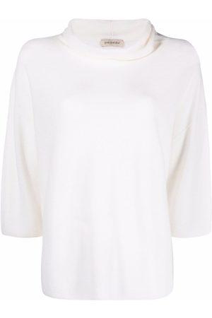 GENTRYPORTOFINO Women Tops - Roll-neck cashmere top - Neutrals