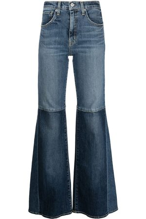 NILI LOTAN Women Bootcut - Mid-rise two-tone flared jeans