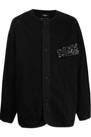 FIVE CM Plain button overshirt