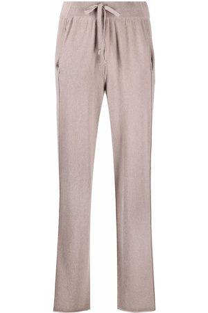 KRISTENSEN DU NORD Straight-leg cashmere trousers - Grey