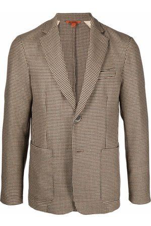 BARENA Men Blazers - Single-breasted fitted blazer