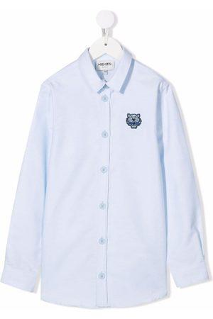 Kenzo Logo embroidered oxford shirt