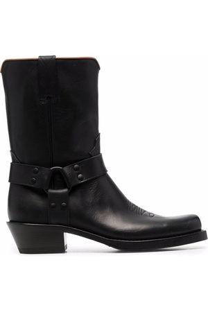 Buttero Men Cowboy Boots - Elba mid-calf cowboy boots