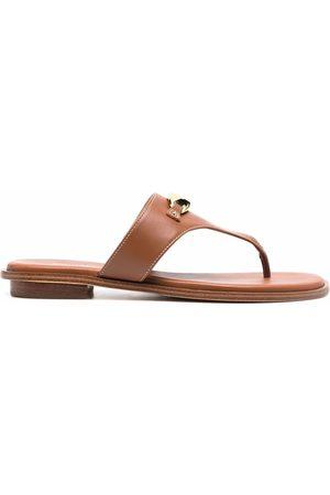 Michael Kors Women Sandals - Logo-plaque leather sandals