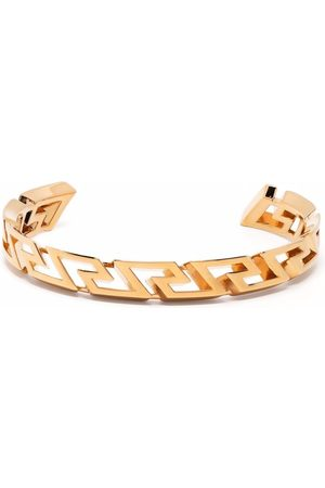 VERSACE Greca key curved bangle