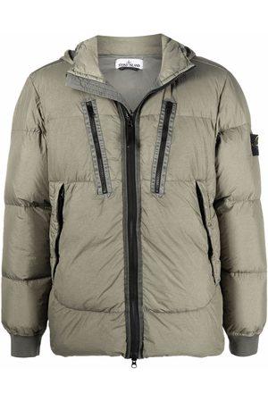 Stone Island Men Puffer Jackets - Compass patch puffer jacket