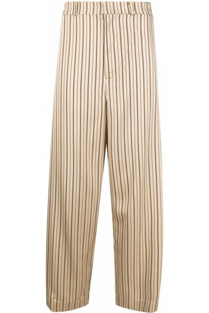 A BETTER MISTAKE Lazy Ravers striped-print straight trousers - Neutrals
