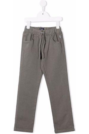 Il gufo Drawstring straight-leg trousers - Grey