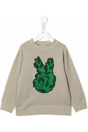 Stella McCartney Leaf-peace print organic cotton sweatshirt