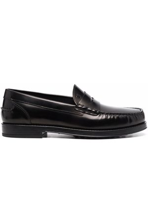 Tod's Exposed stitch leather loafers