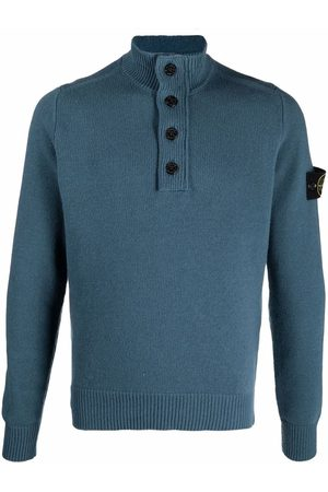 Stone Island Compass badge buttoned jumper