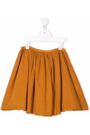 Longlivethequeen Pleated organic cotton mini skirt