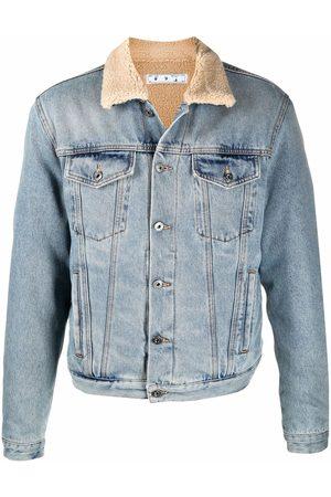 OFF-WHITE Contrast-collar denim jacket