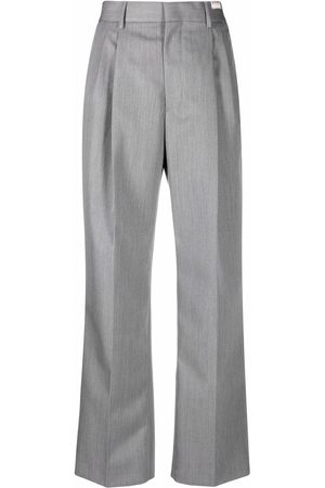 Marni Women Straight Leg Pants - Straight-leg virgin wool trousers - Grey