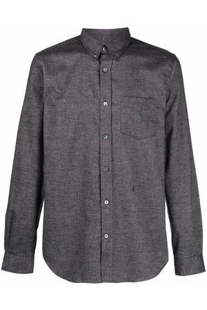 Closed Men Long sleeves - Long-sleeved button-up shirt - Grey