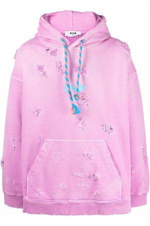 Msgm Distressed pullover hoodie