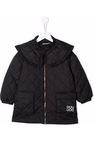 DOUUOD KIDS Boys Puffer Jackets - Contrast-collar zip-up padded jacket