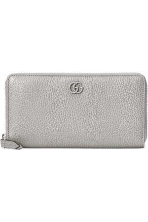 Gucci Women Wallets - Logo-plaque zip-fastening wallet - Grey