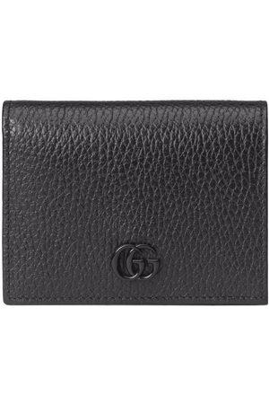 Gucci Logo-plaque snap-fastening wallet
