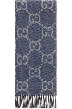 Gucci Women Scarves - GG jacquard knit scarf