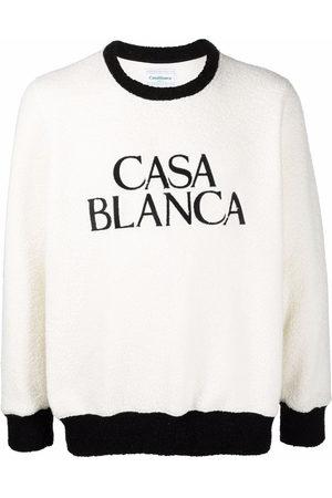 Casablanca Men Sweatshirts - Logo-print fleece jumper