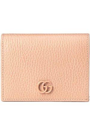 Gucci Women Wallets - Logo-plaque pebbled-texture wallet - Neutrals