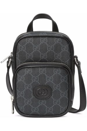 Gucci Men Rucksacks - Logo-patch zip-fastening backpack