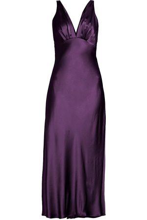 Natori Women Socks - V-Neck Silk Sleeping Gown