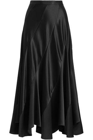 Polo Ralph Lauren Women Maxi Skirts - Satin Asymmetric Maxi Skirt