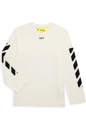OFF-WHITE Long Sleeve - Little Kid's & Kid's Off Stamp Long-Sleeve T-Shirt